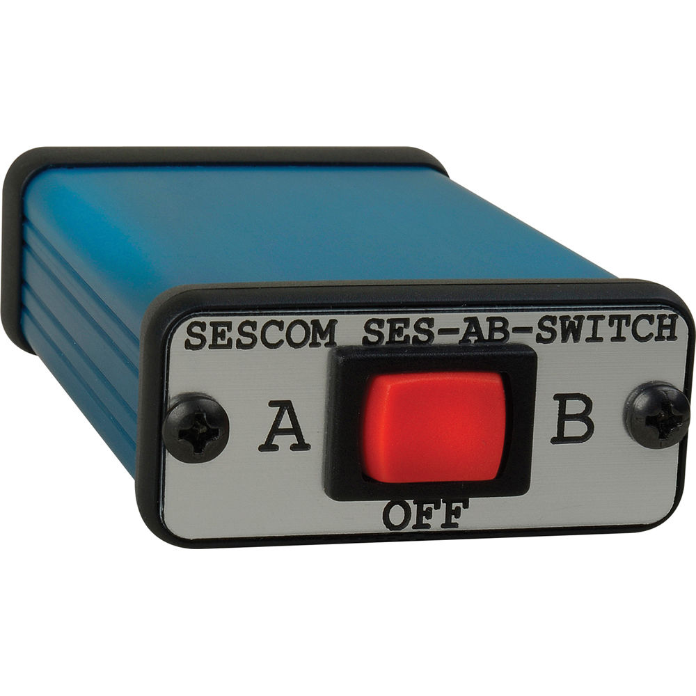 Sescom 3 5mm Stereo Audio A/B Switch for Mobile Devices and Computers