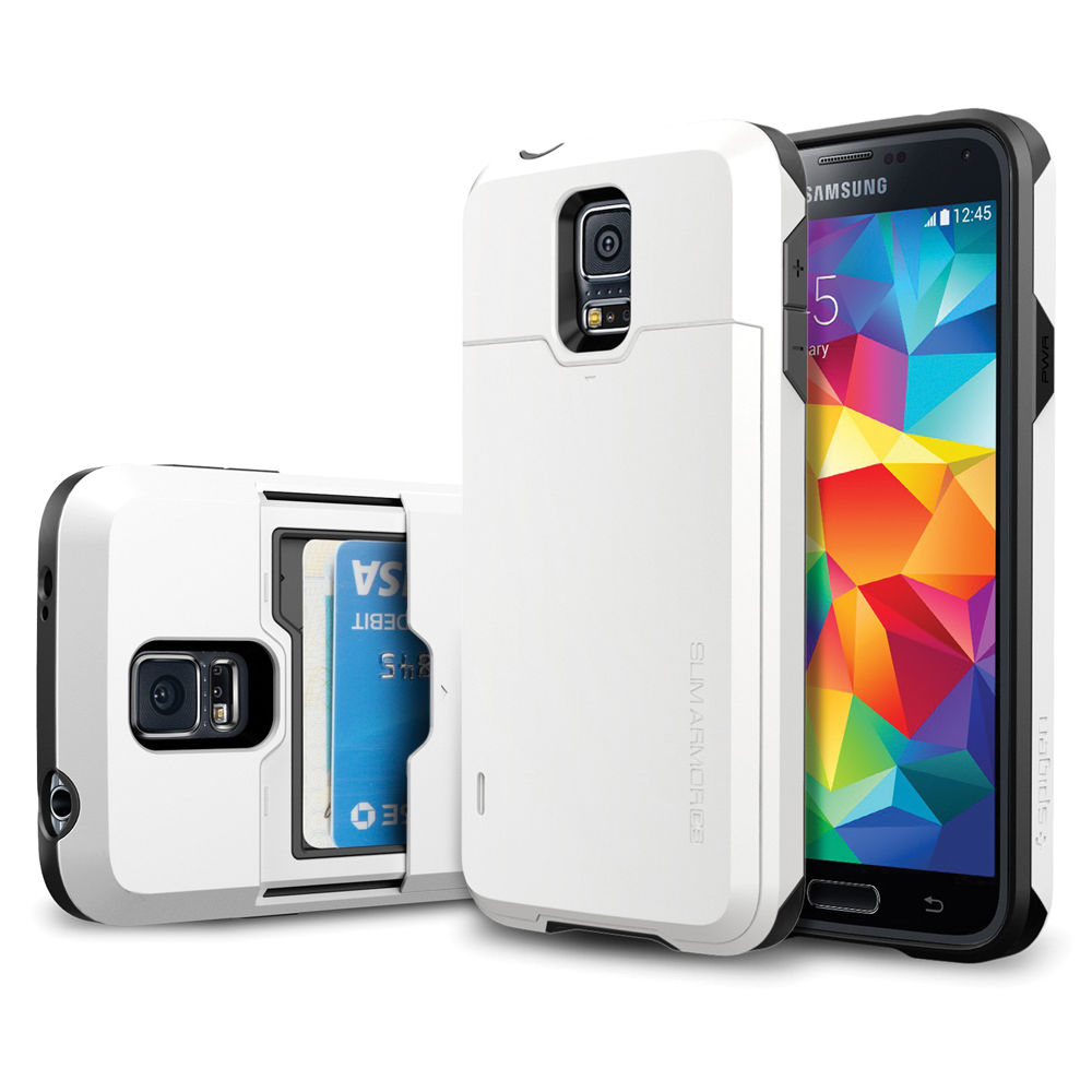 reputable site c6f9e e03ee Spigen Slim Armor CS Case for Galaxy S5 (Shimmery White)
