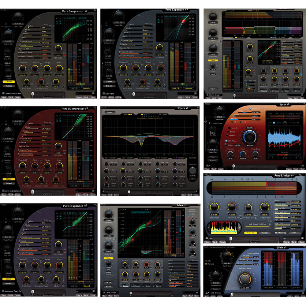 FLUX Full Pack 2 1 - Recording, Mixing, Remixing, Mastering Plug-Ins Bundle  (Download)