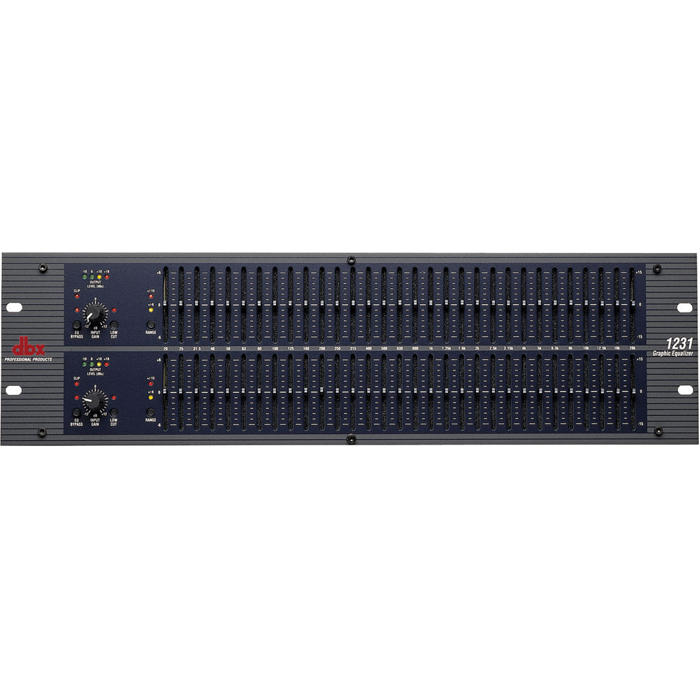 dbx 1231 - Dual Channel 31-Band Graphic Equalizer with 6 or 15 dB  Switchable Boost/Cut and RF Filtered I/O's