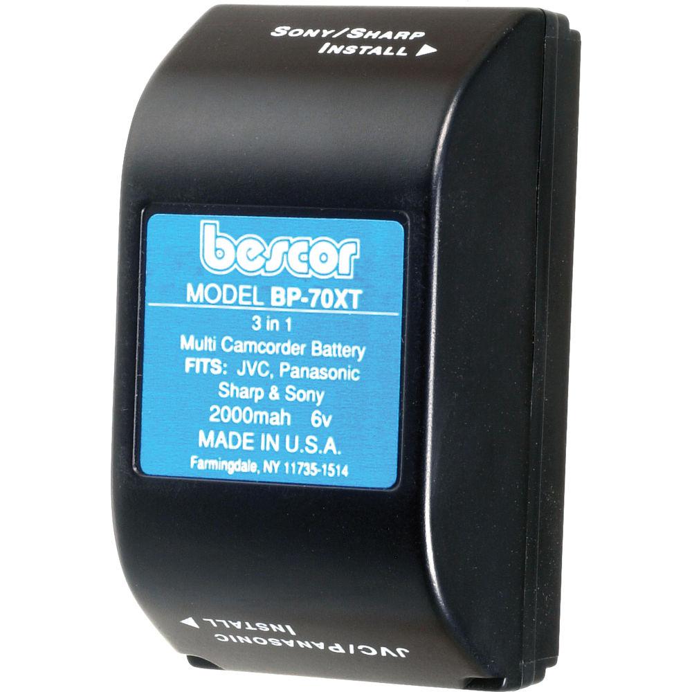 Bescor Bp 70xt Ni Cad Battery Pack 6v 2000mah Bp70xt B H