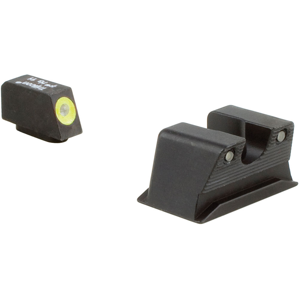 Trijicon HD Night Sight Set for Walther PPS/PPX Pistol (Yellow Front Disk,  Matte Black)