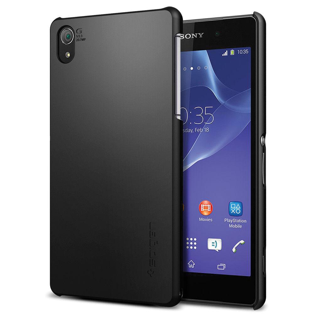 online retailer 03fe5 f4719 Spigen Sony Xperia Z2 Ultra Fit Case (Smooth Black)