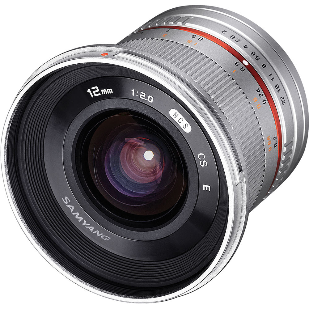 Samyang 12mm f/2 0 NCS CS Lens for Micro Four Thirds Mount (Silver)