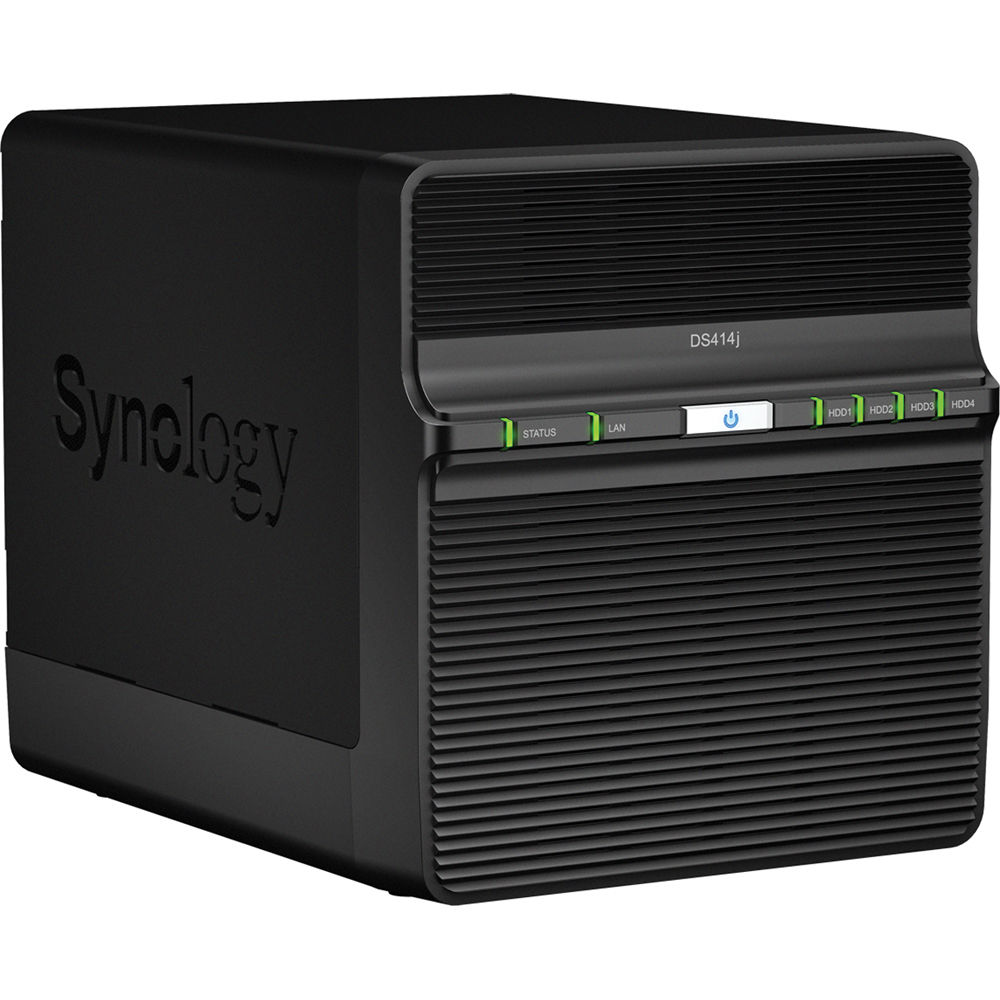Synology DiskStation DS414j 4-Bay SMB and SOHO NAS Server