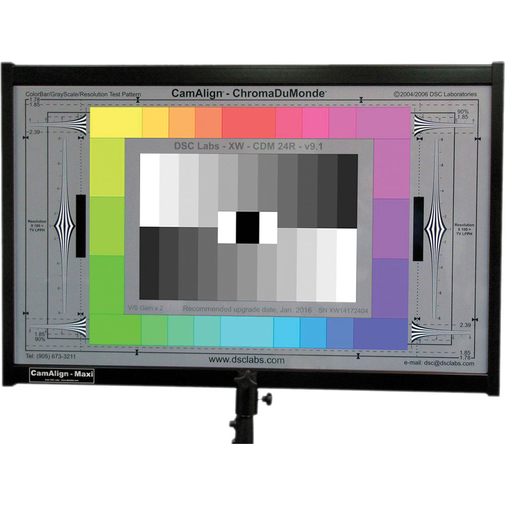 DSC Labs ChromaDuMonde 24-R Maxi CamAlign Chip Chart with Resolution