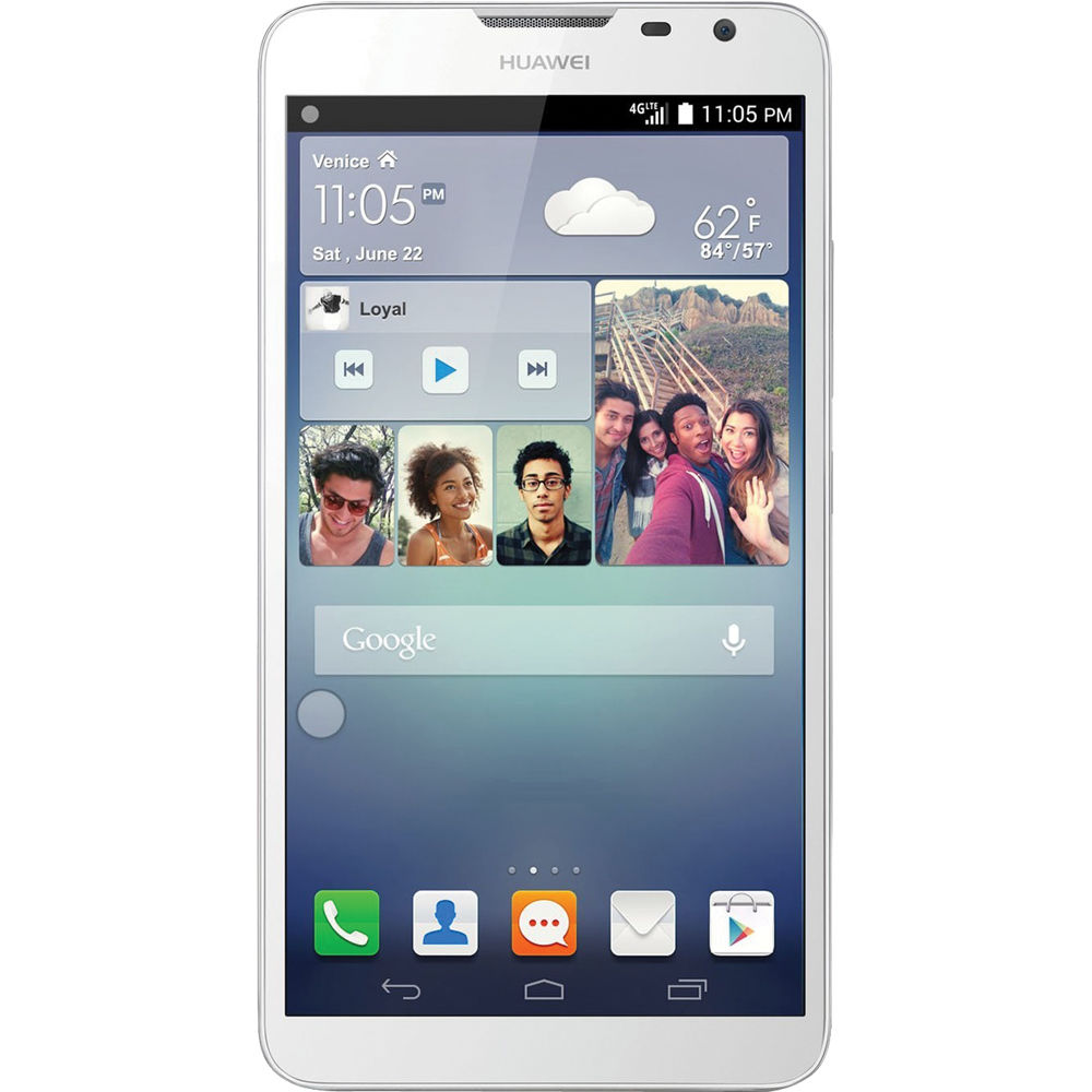 hot sale online 17fd0 0aaa1 Huawei Ascend Mate2 MT2-L03 4G 16GB Smartphone (Unlocked, White)