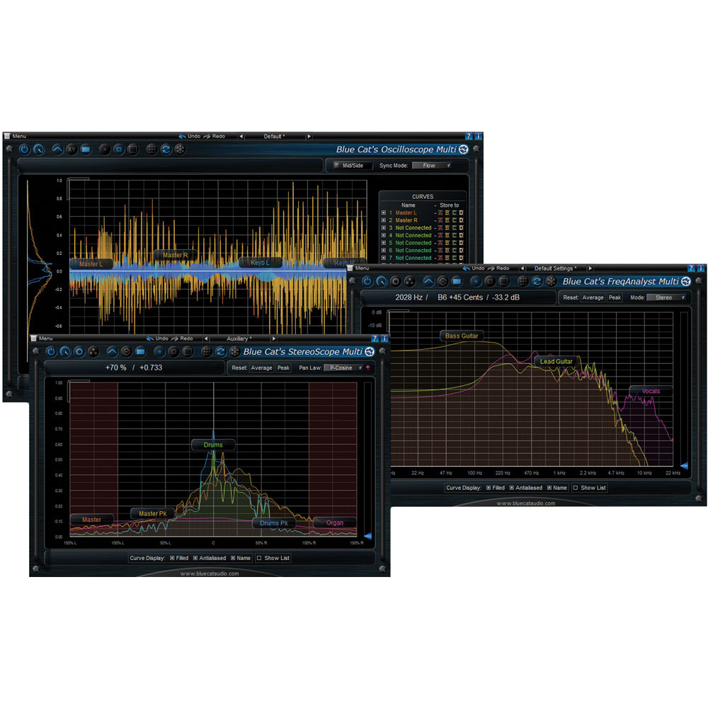 Blue Cat Audio Multi Pack Multiple Track Analysis 11-31230 B&H