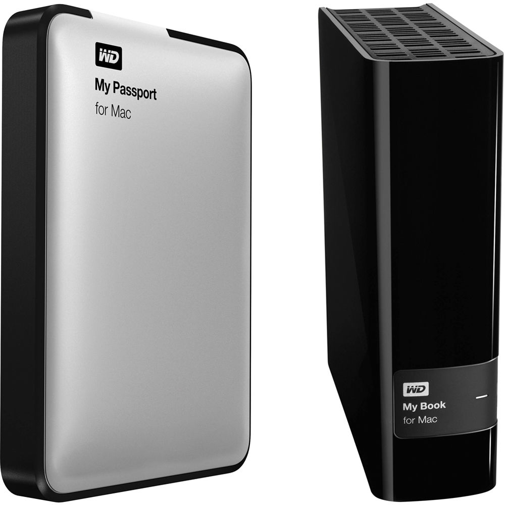 WD 3TB My Book External Hard Drive with 1TB My Passport Drive for Mac