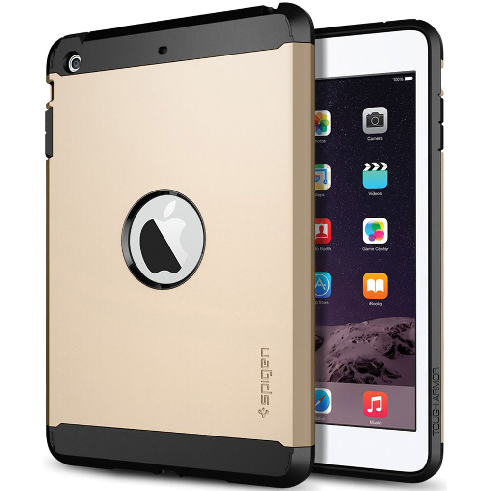 pretty nice 3d64c 572cc Spigen iPad mini/mini 2/mini 3 Tough Armor Case (Champagne Gold)