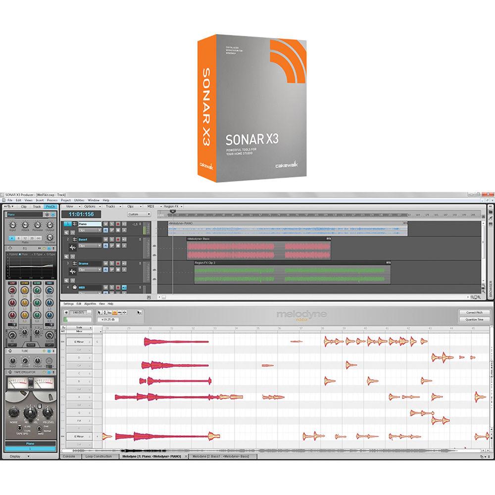 Cakewalk Sonar X3 - Recording, Mixing, Mastering Software (Download)