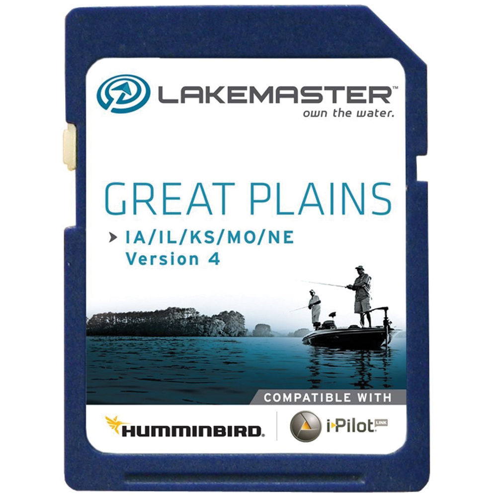 Humminbird Great Plains LakeMaster PLUS GPS Map Card for Humminbird on maps for hp, maps for magellan, maps for tomtom, maps for garmin,