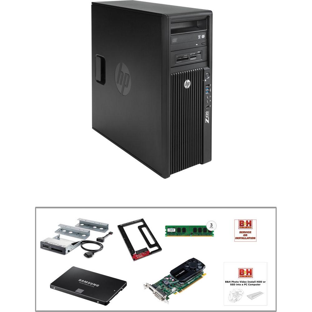 HP Z420 F1L02UT Turnkey Workstation with SSD, 16GB RAM, & Quadro K620