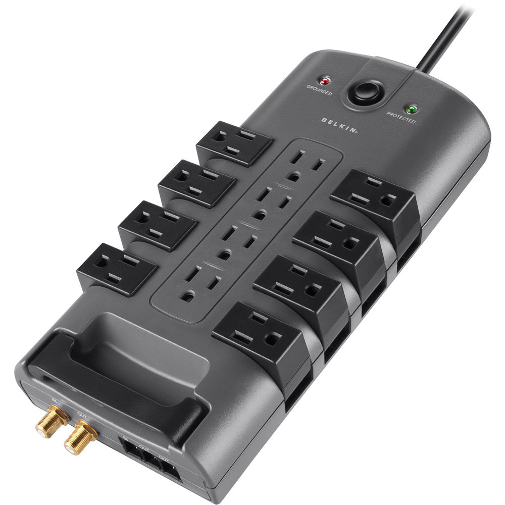 Belkin PivotPlug 12-Outlet Surge Protector with 8/' Power Cord #BP112230-08