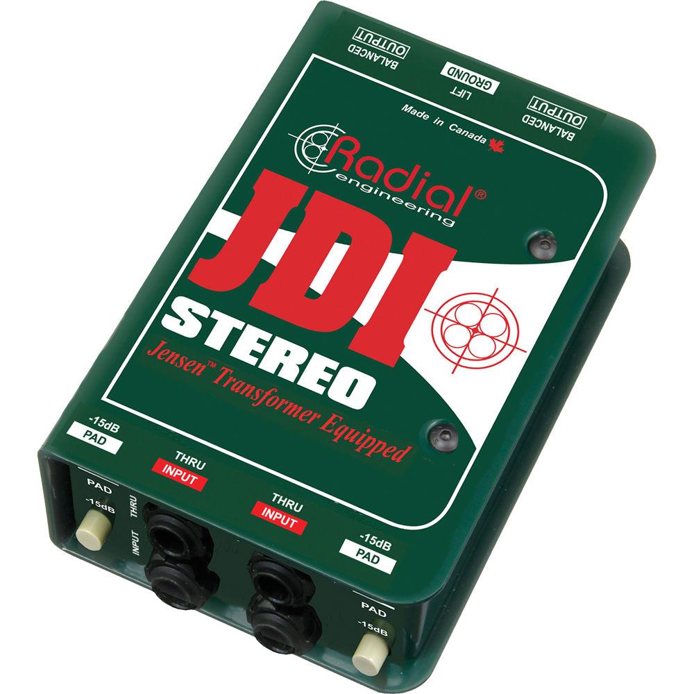 "Premium Dual Mono//Stereo Direct Box DI Dual 1//4/"" Inputs /& XLR Outputs"