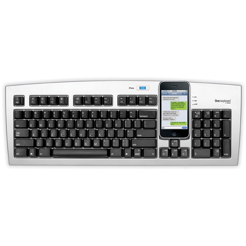 Matias One Bluetooth Keyboard For Iphone And Computer Fk301pi
