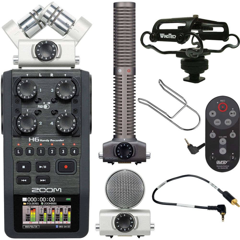 Zoom H6 Handy Recorder On-Camera Package Kit