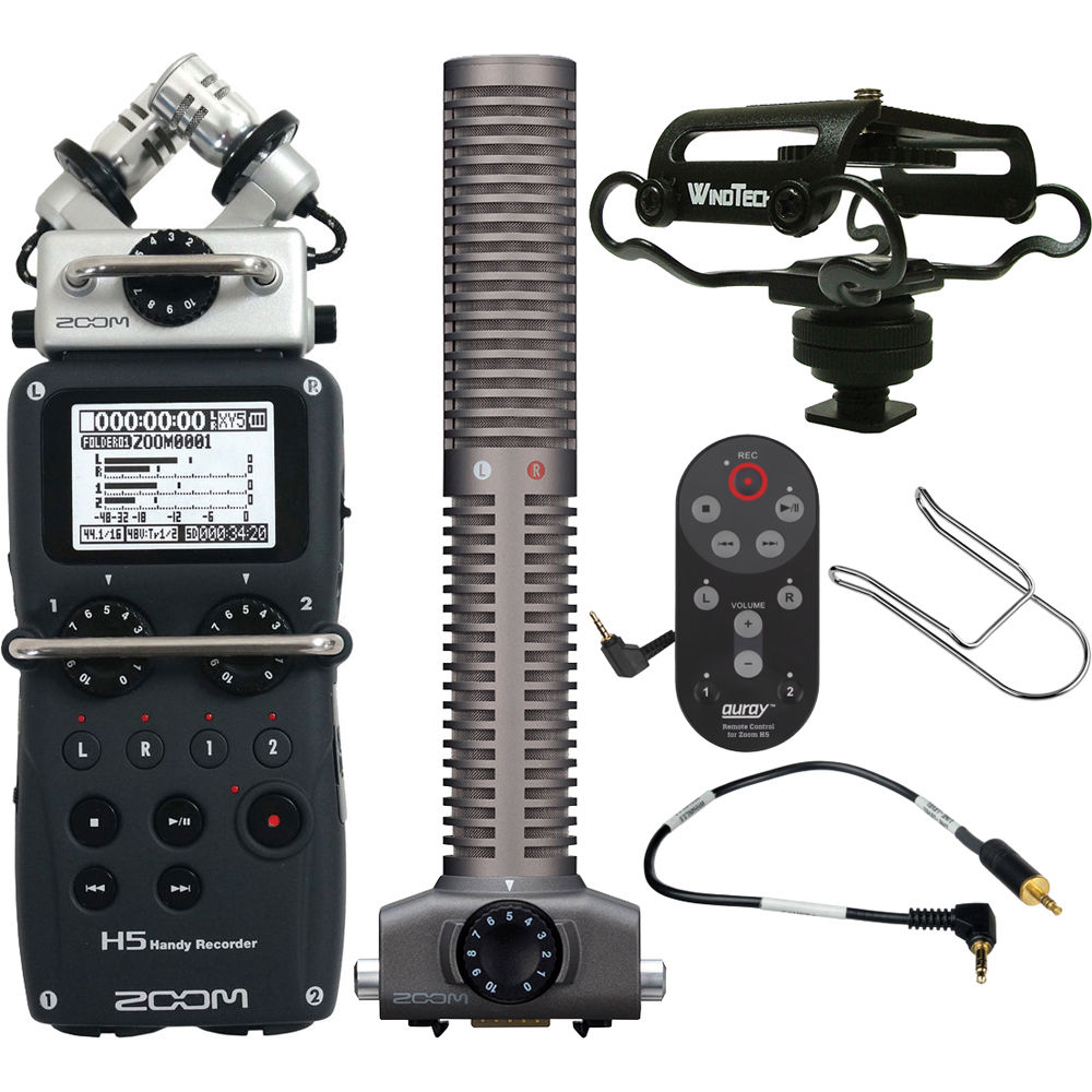 Zoom H5 Handy Recorder On-Camera Package Kit