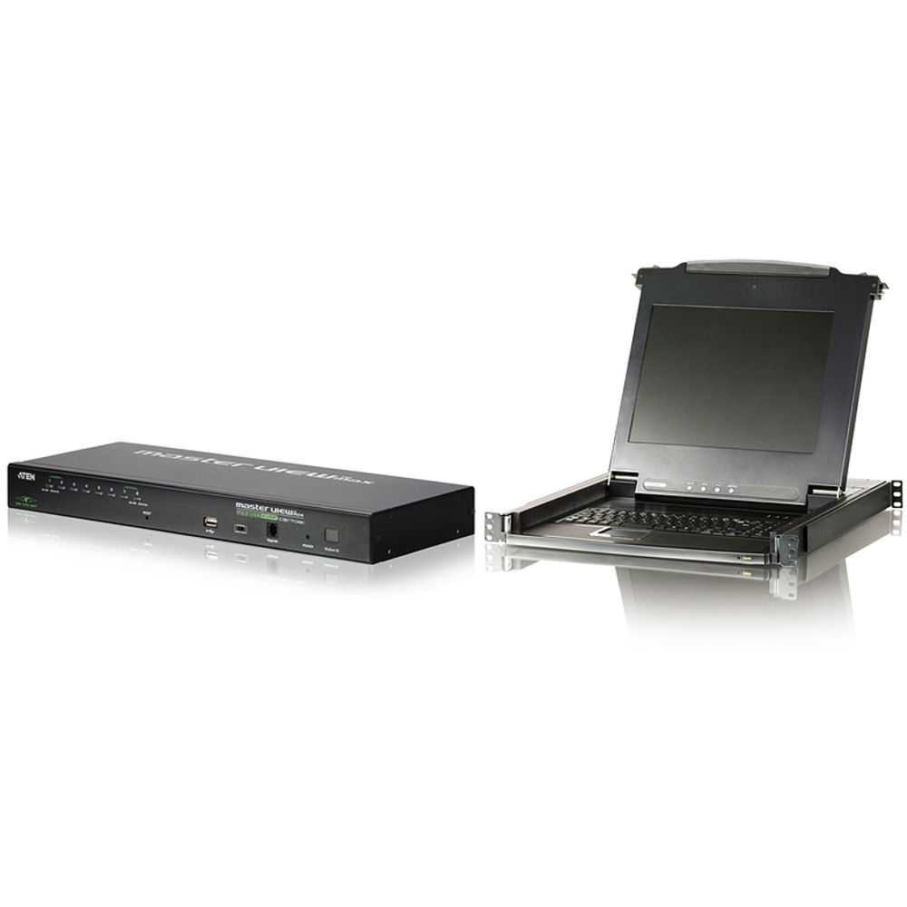 ATEN CLCS1708IKIT LCD Console with 8-port IP KVM Bundle