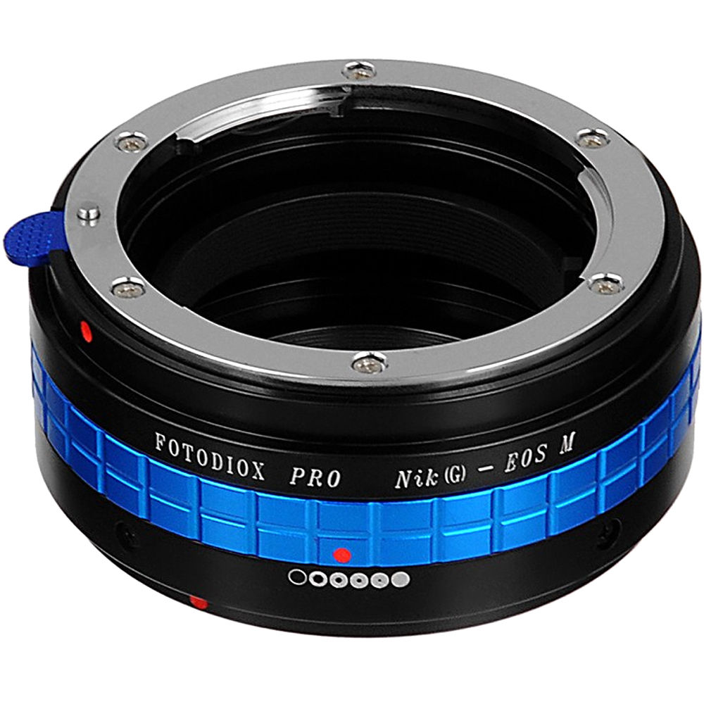 FotodioX Pro Lens Mount Adapter for Nikon F-Mount Lens to Canon EF-M Mount  Camera