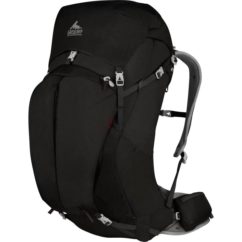 Gregory Mens Z 55 Medium Backpack 55 L Storm Black Gm74562