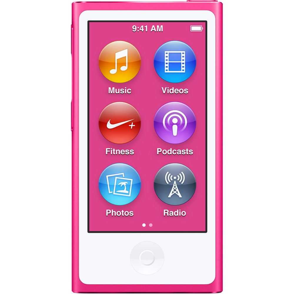 Latest Mode 16GB New Brand Apple iPod nano 7th Generation Pink MP3 Player