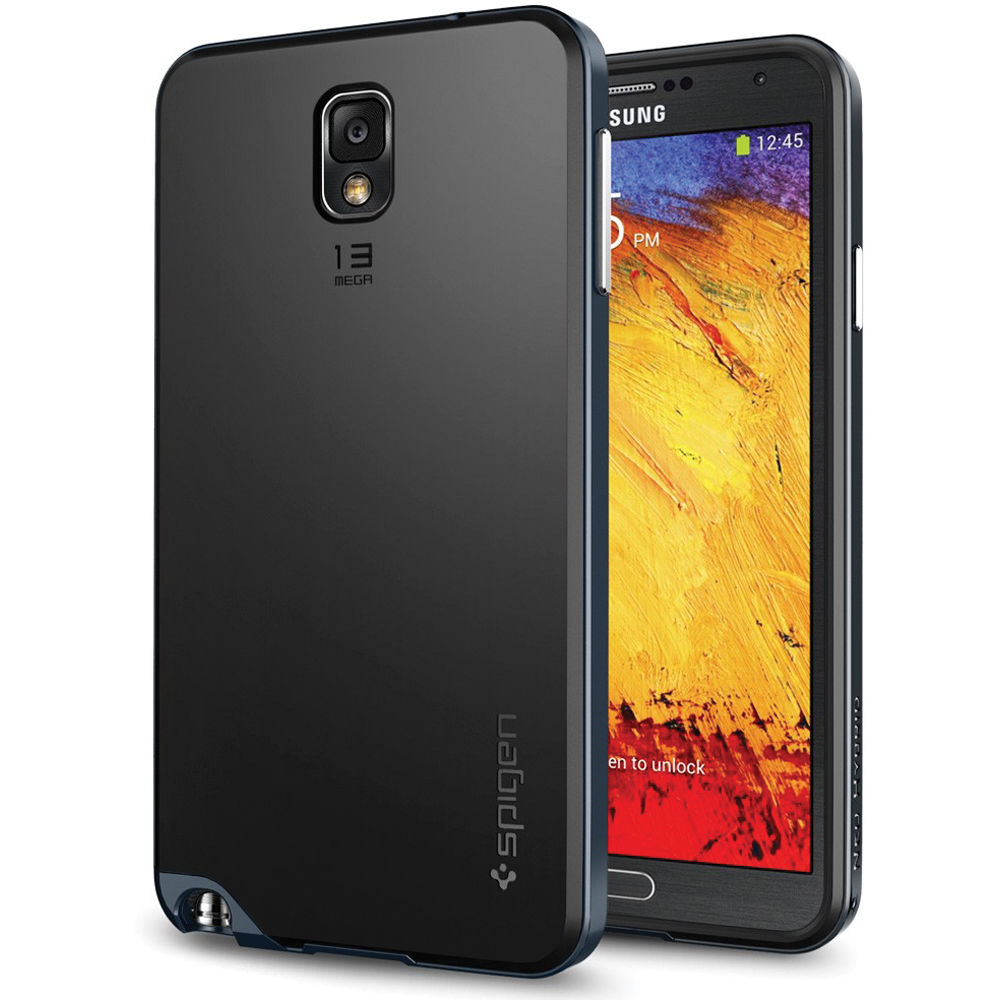 new style d41de 82700 Spigen Neo Hybrid Case for Samsung Galaxy Note 3 (Metal Slate)