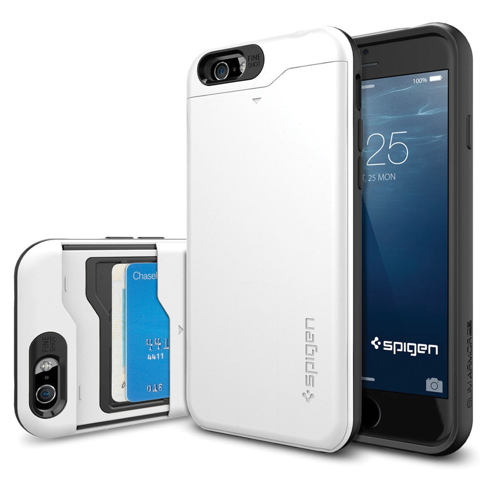 big sale 230cb 9bf9a Spigen Slim Armor CS Case for iPhone 6/6s (Shimmery White)