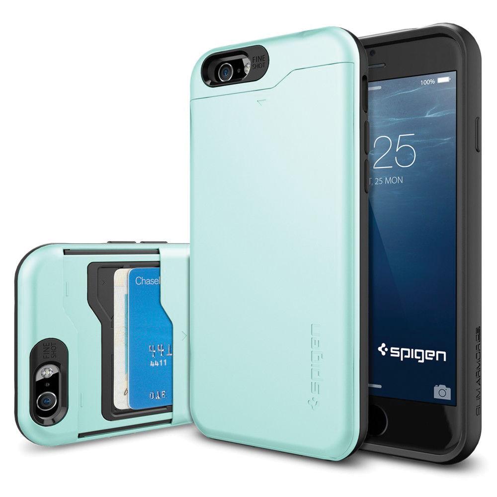 online retailer 1a985 2ba97 Spigen Slim Armor CS Case for iPhone 6/6s (Mint)