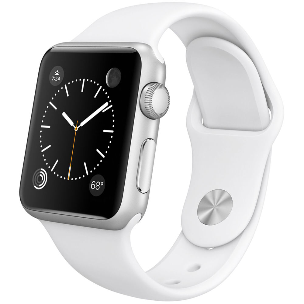 first rate e6602 7c4f3 Apple Watch Sport 38mm Smartwatch (2015, Silver Aluminum Case, White Sport  Band)