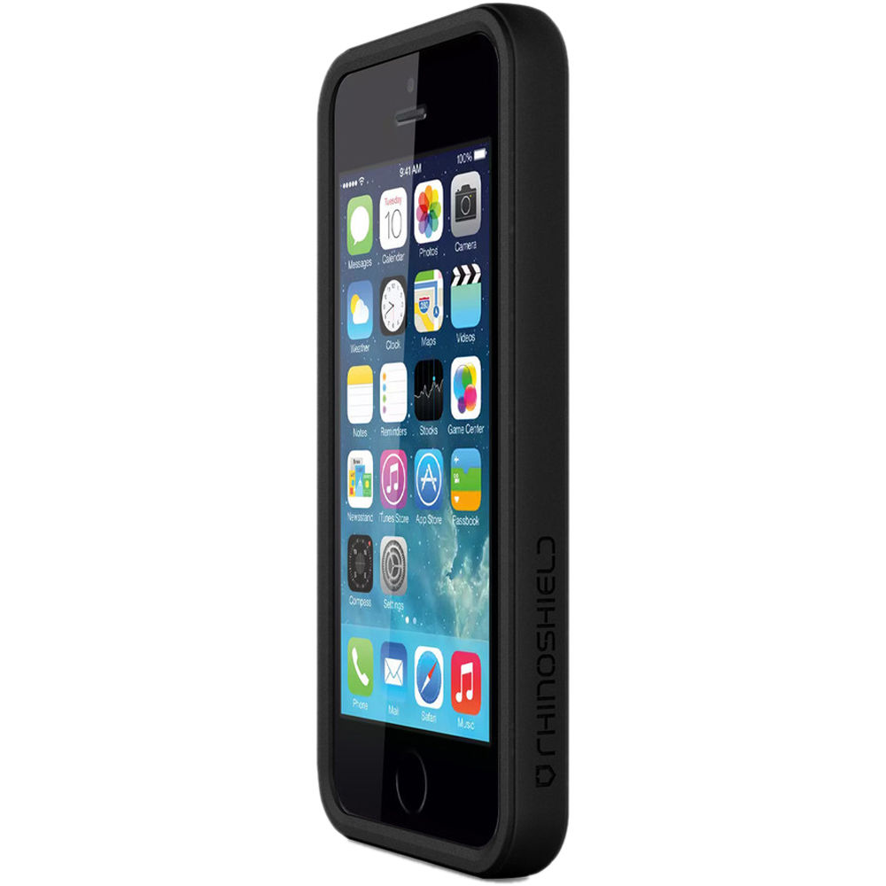 timeless design ef1d4 56261 RhinoShield Crash Guard Bumper for iPhone 5/5s (Charcoal Black)