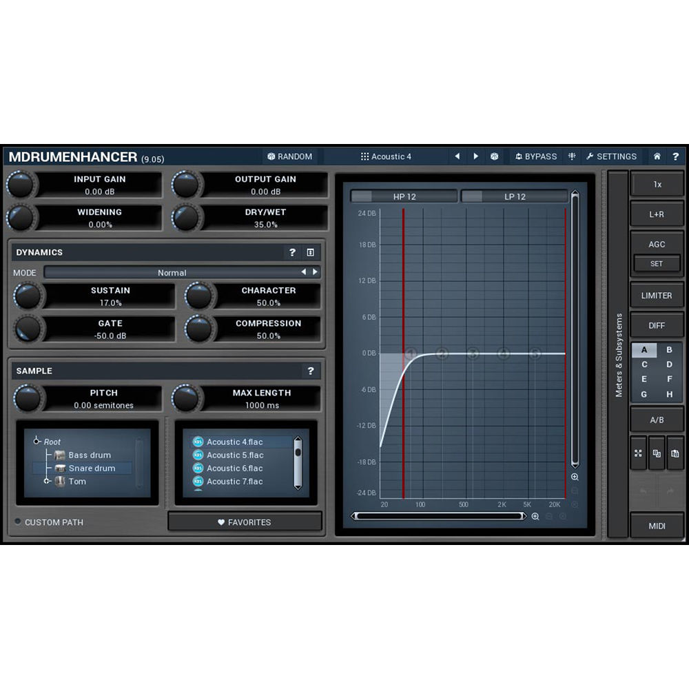MeldaProduction MDrumEnhancer - Drum Track Mapping 11-30246 B&H
