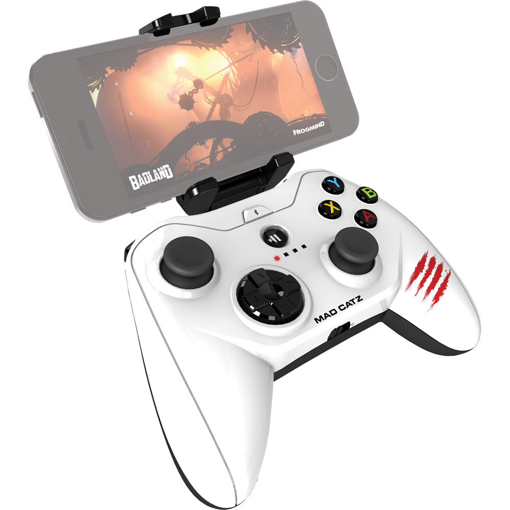 Mad Catz Micro C T R L i Mobile Gamepad for iPod/iPhone/iPad (Glossy White)
