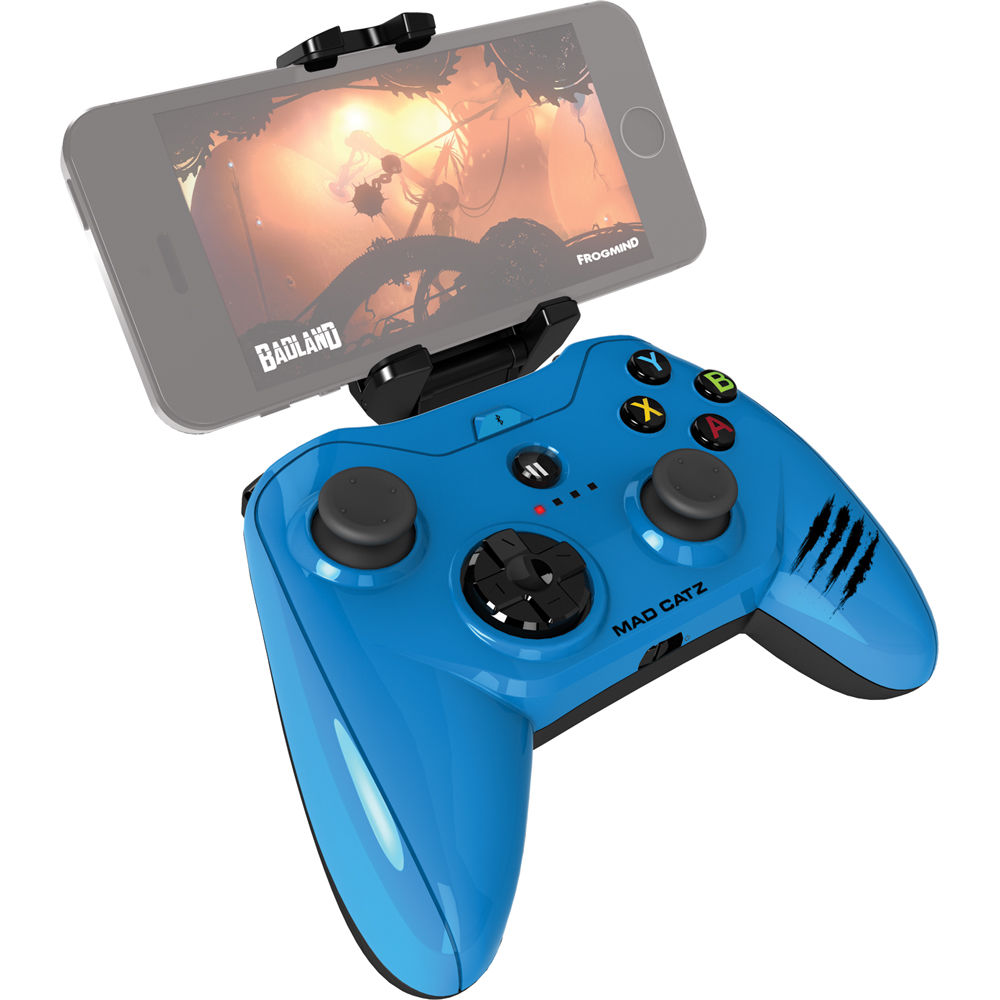 Mad Catz Micro C T R L i Mobile Gamepad for iPod/iPhone/iPad (Glossy Blue)