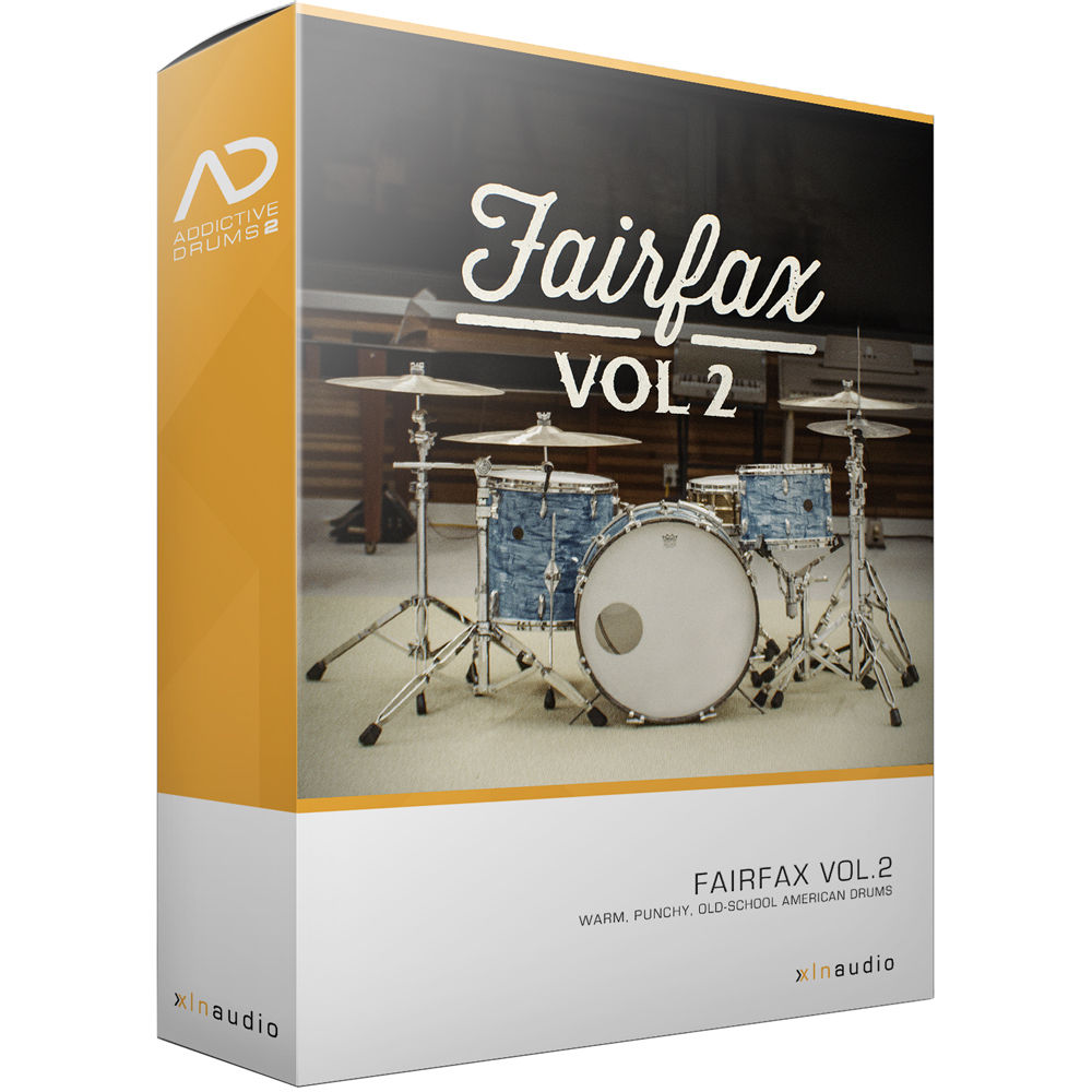 XLN Audio Fairfax Vol  2 AD2 ADPAK - Virtual Drum Kit (Download)