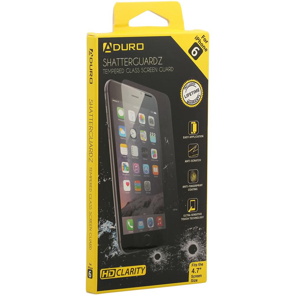 the latest ba6ea a25da Aduro SHATTERGUARDZ Tempered Glass Screen Protector for iPhone 6/6s