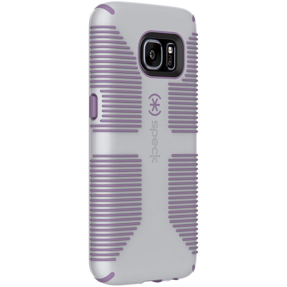 best sneakers b4a7b 06992 Speck CandyShell Grip Case for Galaxy S7 (Dolphin Gray/Lilac Purple)