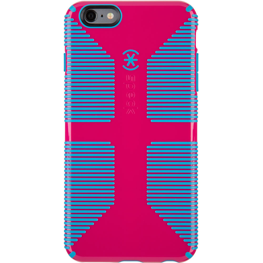 detailed look 7a4b2 ceaea Speck CandyShell Grip Case for iPhone 6 Plus/6s Plus (Lipstick Pink/Jay  Blue)