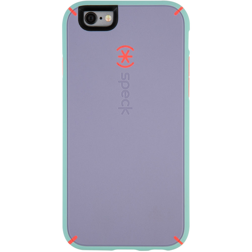 more photos 20acc 87e3f Speck MightyShell Case for iPhone 6/6s (Heather Purple/Warning Orange/Aloe  Green)
