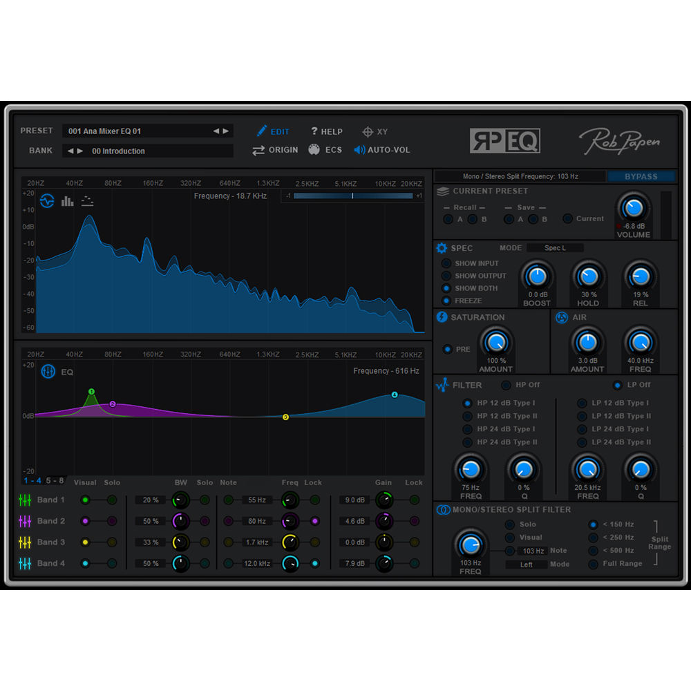 Rob Papen RP-EQ - EQ Plug-In (Download)