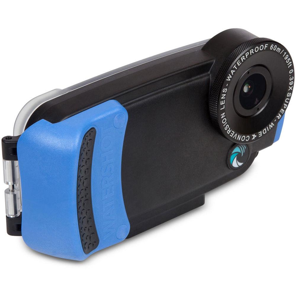 brand new 65727 c1f42 Watershot PRO Underwater Housing for iPhone 6 Plus/6s Plus (Black/Snorkel  Blue)