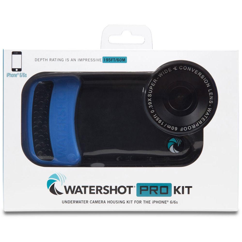 brand new 347ee 341ae Watershot PRO Underwater Housing Kit for iPhone 6 Plus/6s Plus  (Black/Snorkel Blue)