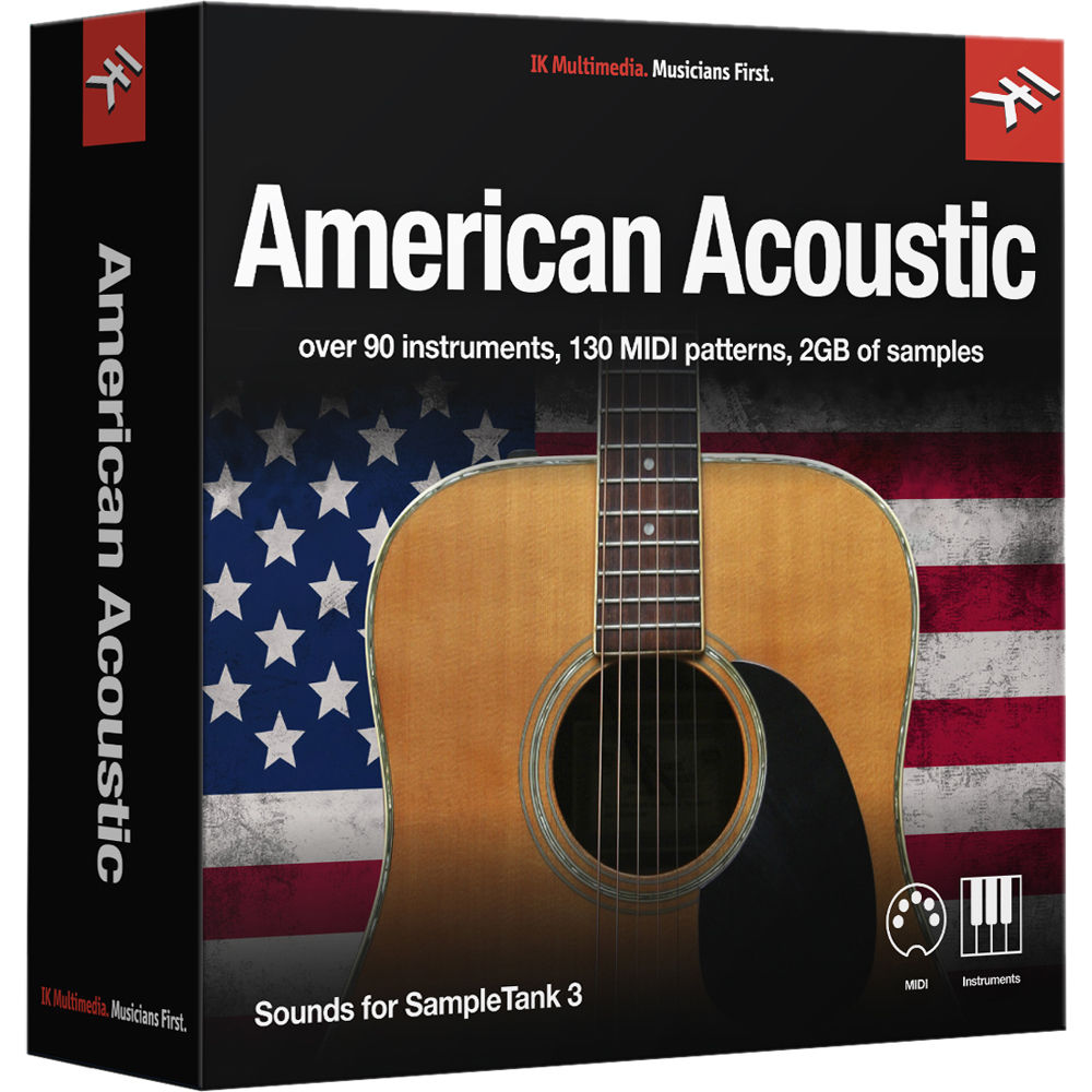 IK Multimedia American Acoustic - SampleTank 3 Virtual Instrument (Download)