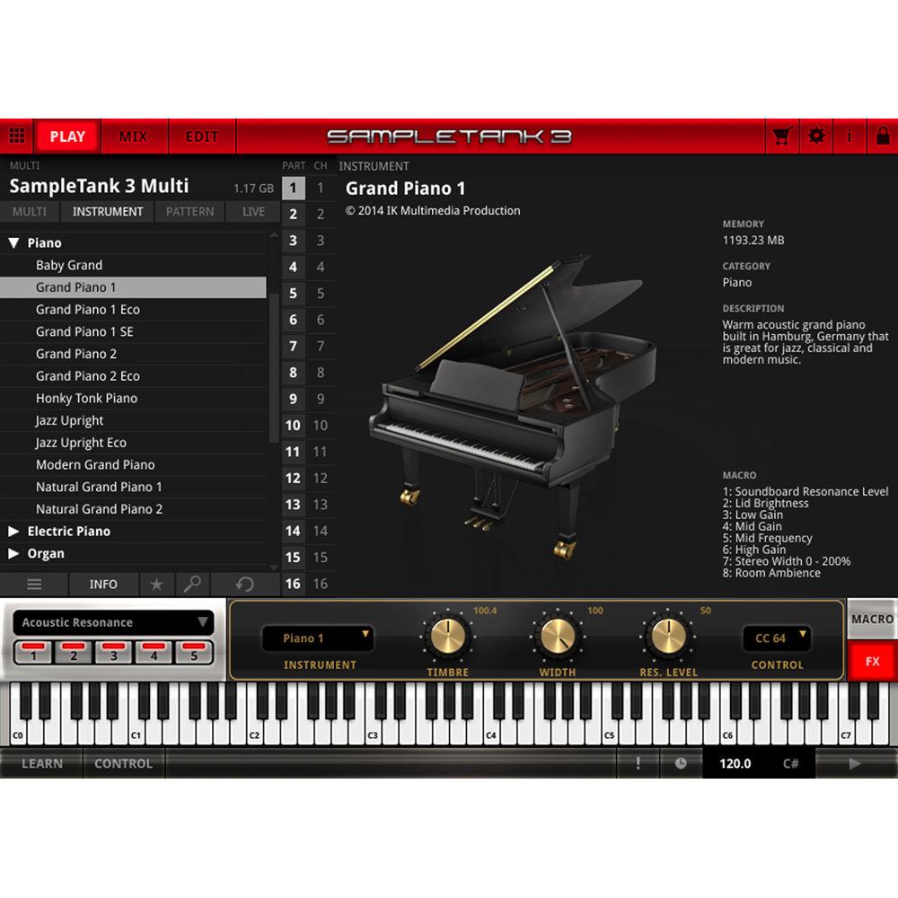 IK Multimedia SampleTank 3 Sample-Based Virtual Instrument (Crossgrade,  Download)