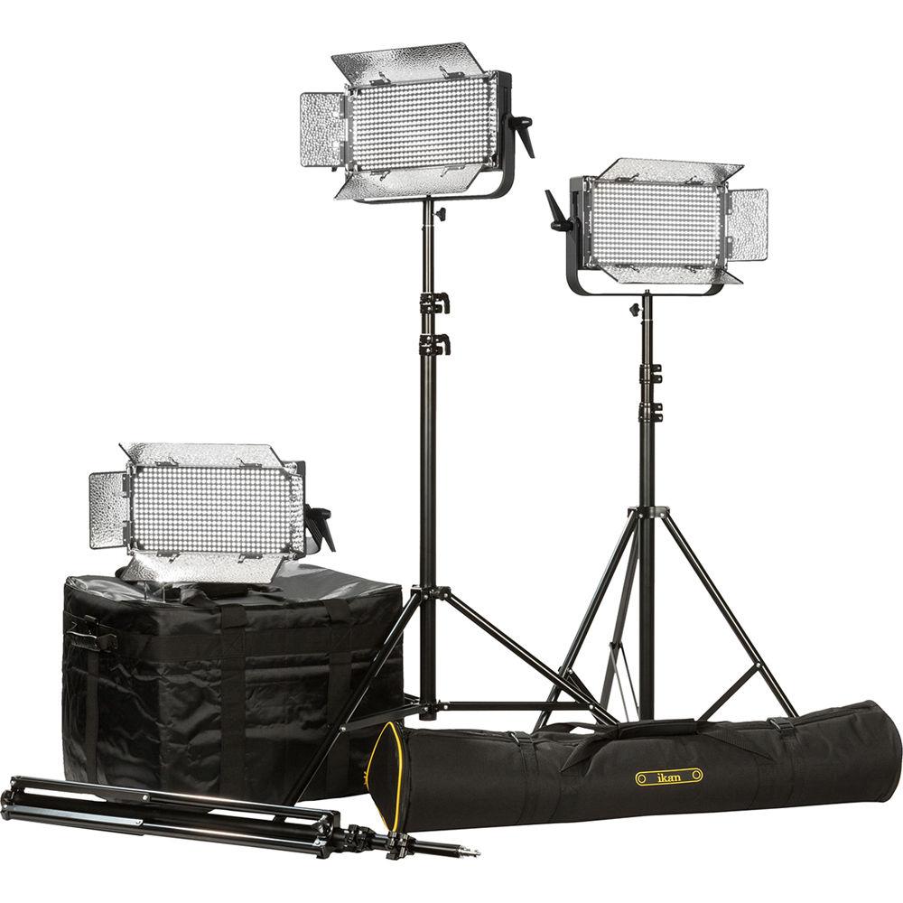 Ikan CHR550-v2 Kit with 5 x ID508-v2 LED Studio Light Black
