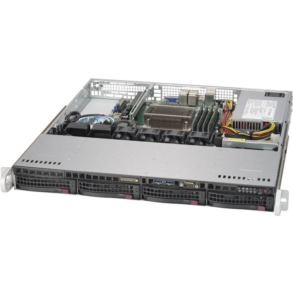Supermicro SuperServer 5019S-MN4 1U Rackmount Server (Black)