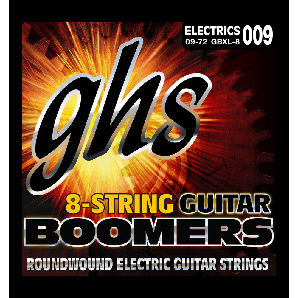 GHS Boomers 8-String .009-.072 Electric Set Extra Light GB8XL
