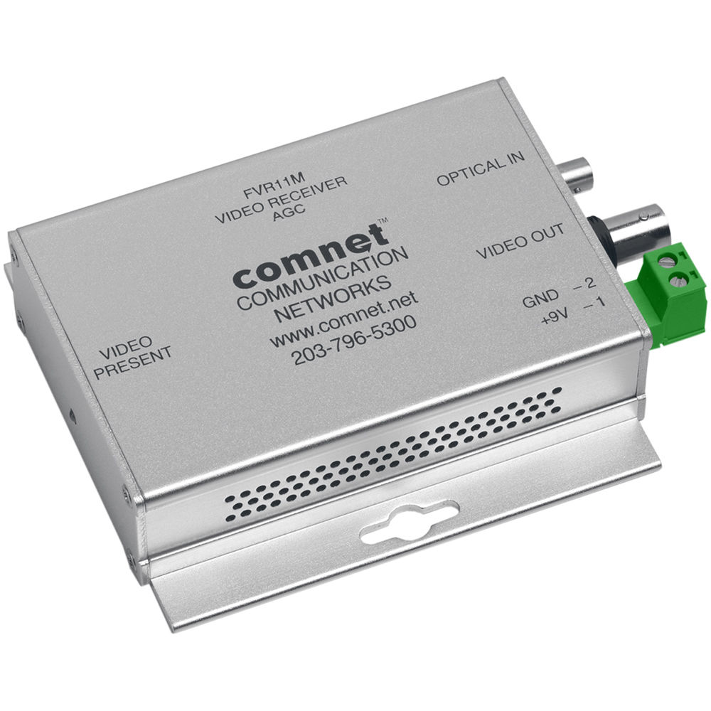 COMNET Mini Multimode 850nm Video Receiver with Automatic Gain Control (Up  to 2 5 mi)