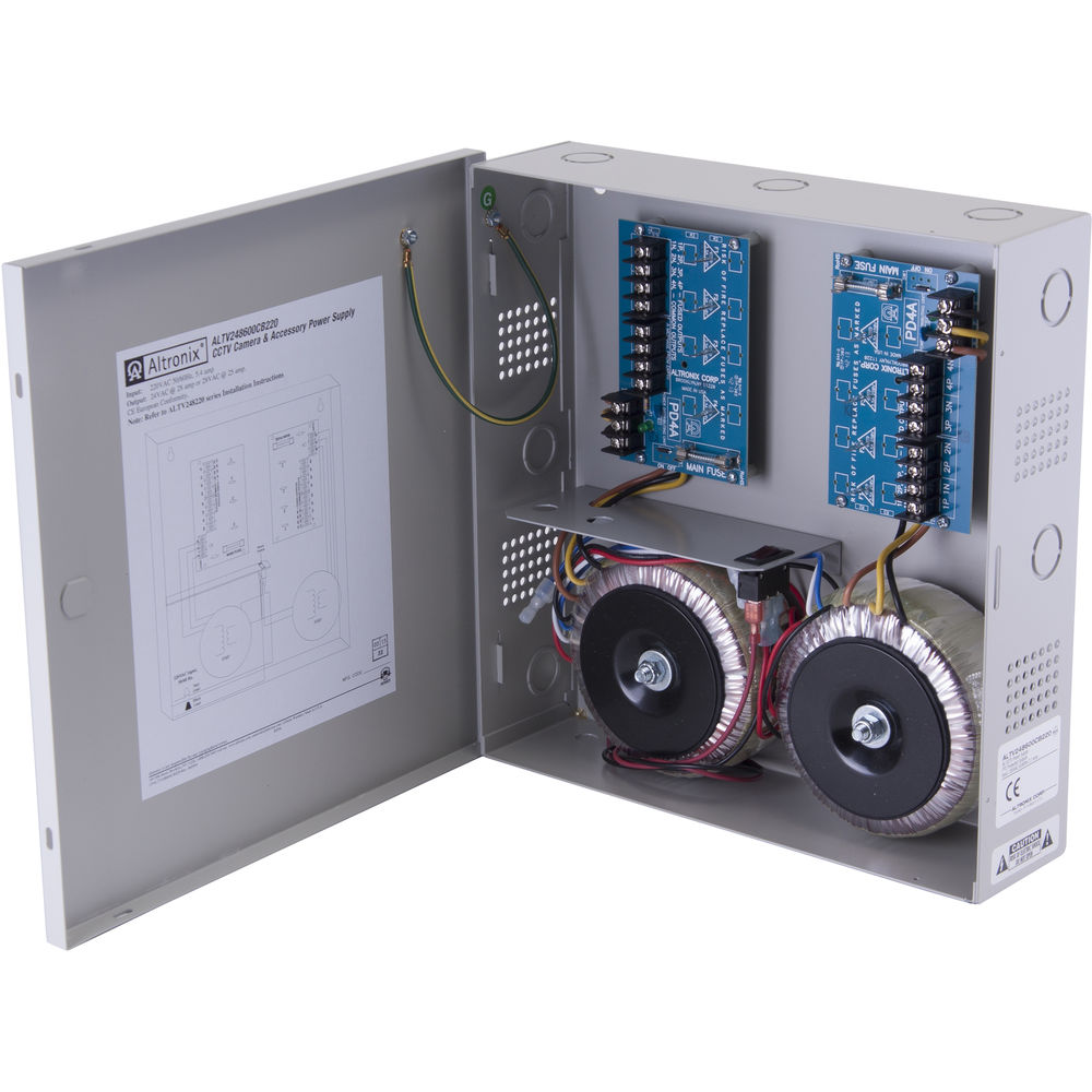 ALTRONIX CCTV Power Supply with 8 Fused Outputs (24 VAC at 4A / 28 VAC at  3 5A)