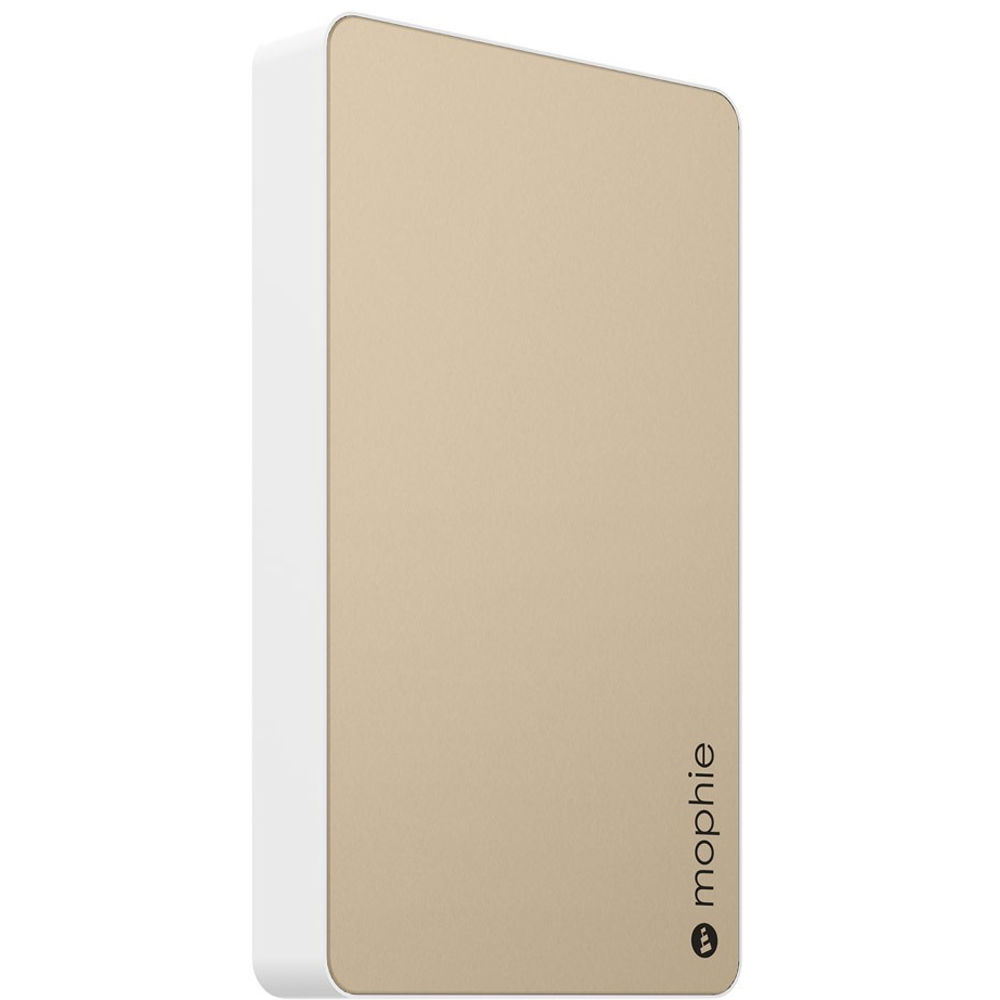 new style 6a24f cc33c mophie Powerstation Dual-USB 6000mAh Battery Pack (Gold)